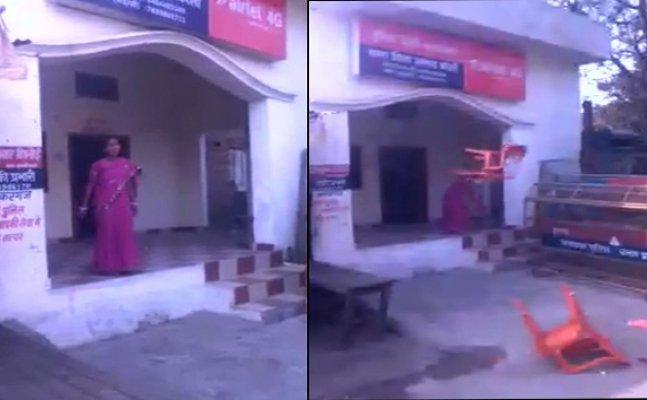 बरेलीः दबंग महिला ने किया पुलिस चौकी पर कब्जा, फेंकी कुर्सियां