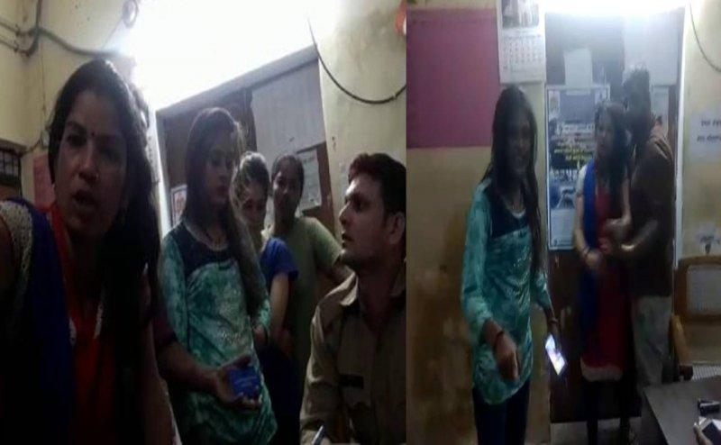 लखनऊः नशे में धुत लड़कियों ने थाने में जमकर किया हंगामा, VIDEO वायरल