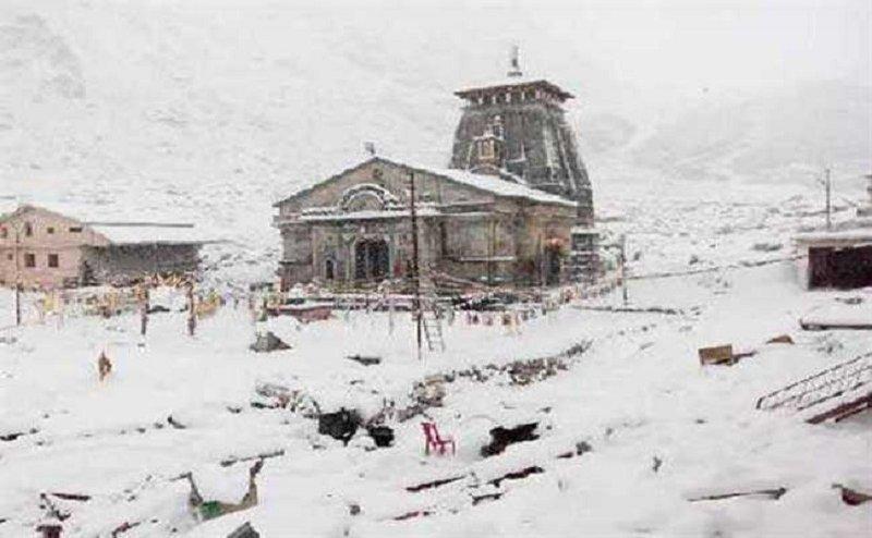 केदारनाथ में भारी बर्फबारी, 7 नवंबर को आने वाले हैं पीएम मोदी