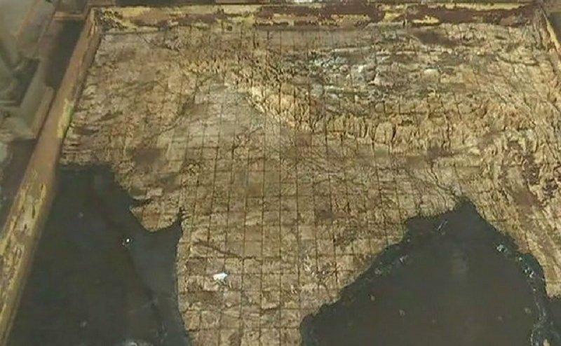 वाराणसी का ये मंदिर दर्शाता है अविभाजित भारत का नक़्शा