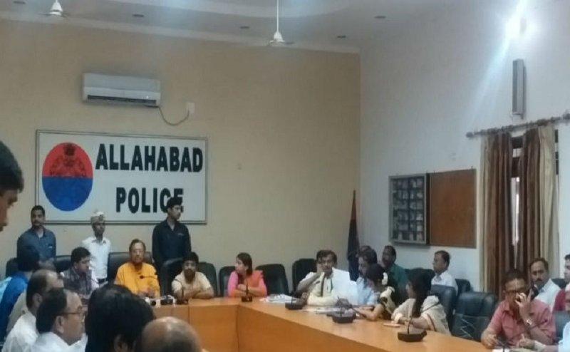 इलाहाबाद में नगर विकास मंत्री सुरेश खन्ना ने की विकास कार्यों की समीक्षा