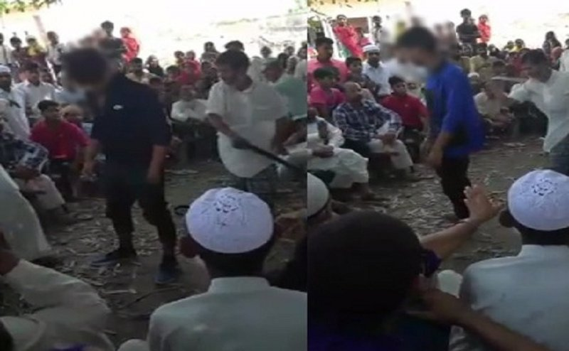 मुरादाबाद में पंचायत ने दी दो युवकों को तालिबानी सजा, जमकर बरसे कोड़े