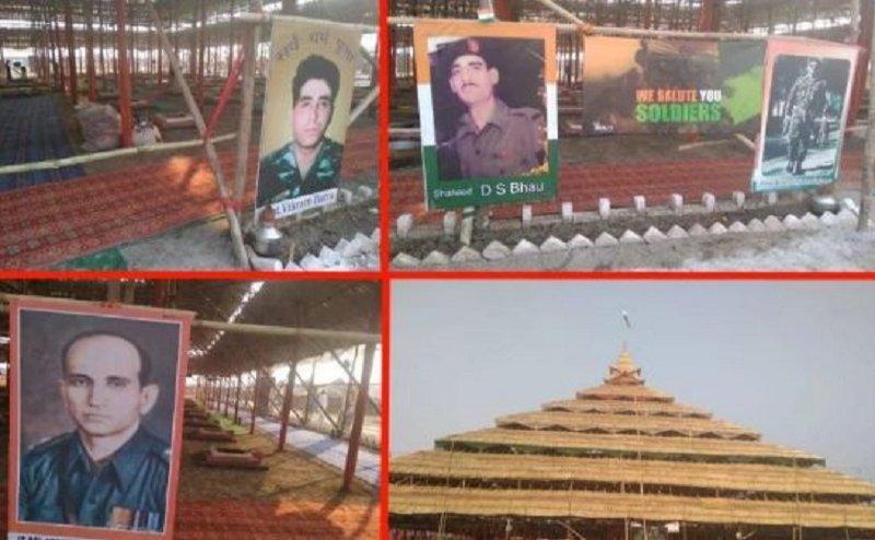 कुंभ नगरी में शहीदों के लिए 100 हवन कुंडो में दी जा रही है आहुति