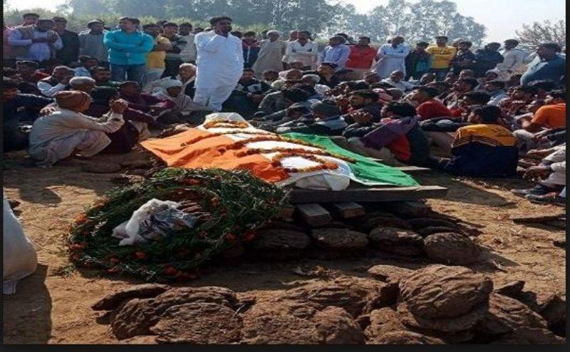 शहीद के अंतिम संस्कार में हुयी तीन घंटे की देरी