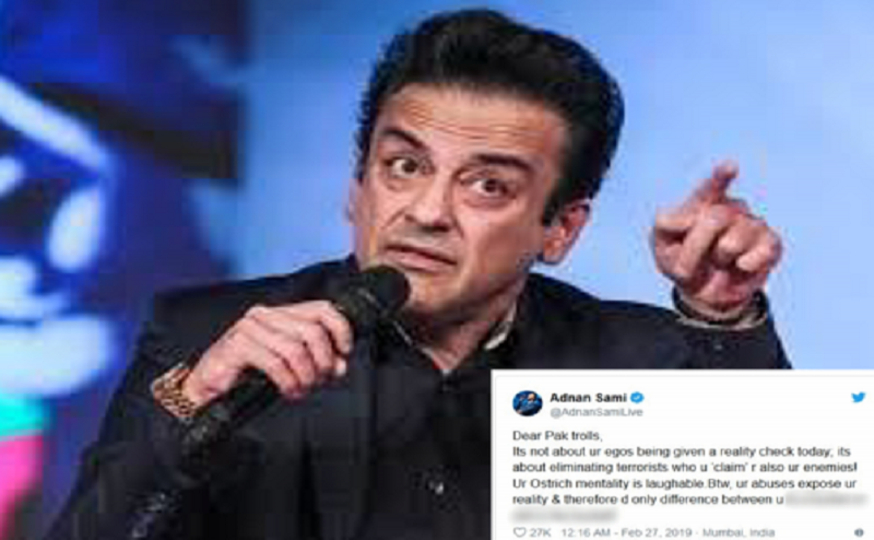 पाकिस्तानी ट्रोलर्स को अदनान सामी का करारा जवाब, ट्रोलर्स ने कहा था