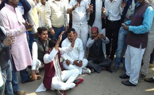 गोरखपुर – BSP ने उठाये EVM पर सवाल, जोरदार प्रदर्शन