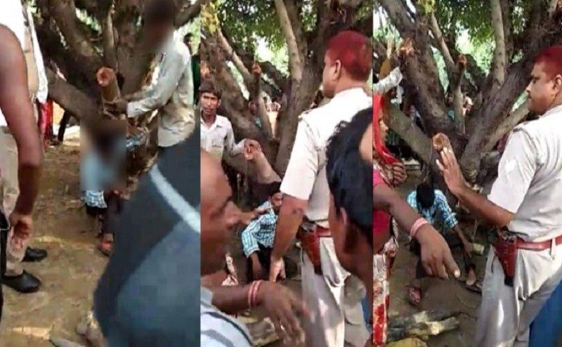 पीलीभीत: मोबाइल चोरी के शक में युवक को पेड़ से बांधकर पीटा