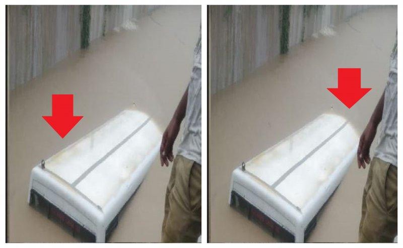 मेरठ: रेलवे अंडरपास में भरे पानी में डूबी स्कूल बस, 2 बच्चे लापता
