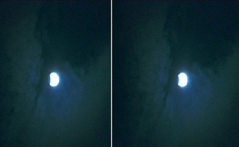 वाराणसी में बादलों के लुकाछिपी के बीच ऐसा दिखा चंद्रग्रहण