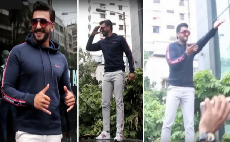 फैन्स को देख खुश हुए रणवीर सिंह, कार पर चढ़कर किया 'खली बली' डांस