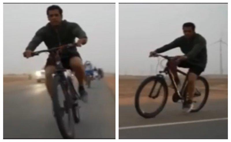 हाफ पैंट में सलमान खान ने की साईकलिंग, शेयर किया ये वीडियो