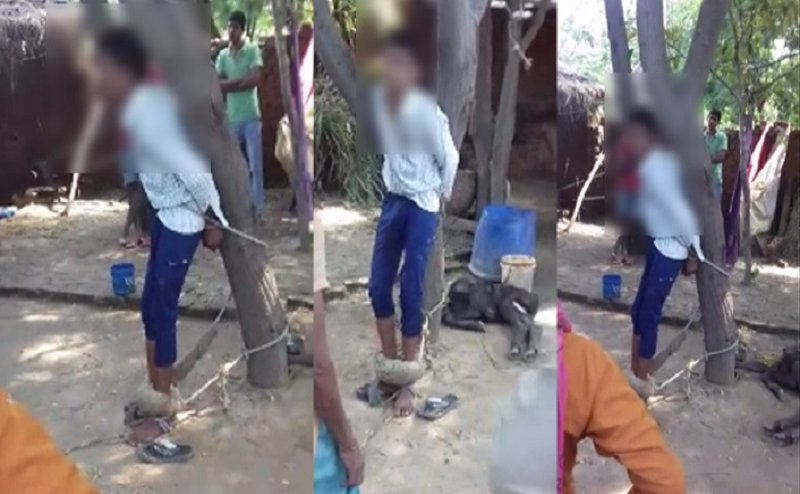 बागपत: साइकिल विवाद में युवक को पेड़ से बांधकर जमकर पीटा
