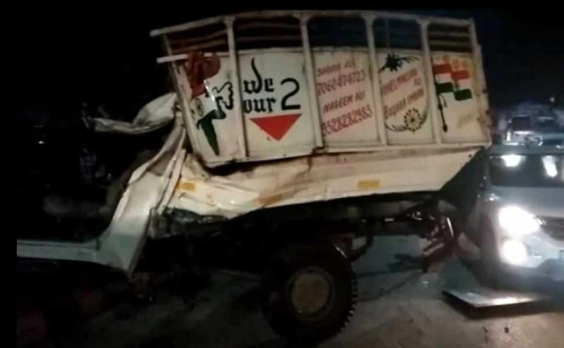 मेरठ: तेज रफ्तार ट्रक ने 4 लोगों को कुचला, बीजेपी कार्यकर्ताओं ने किया हंगामा