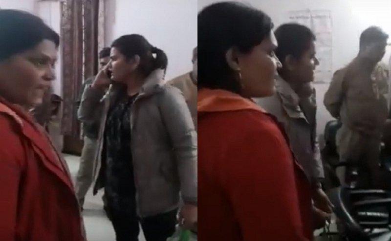 योगी की पुलिस को 'मां-बेटी' की धमकी, कहा- उतरवा दूंगी वर्दी