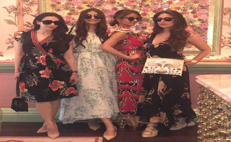 लंदन में करीना, सोनम के साथ करिश्मा ने मनाया बर्थडे, VIDEO