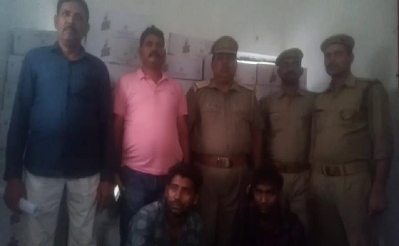 गोरखपुरः पुलिस ने पकड़ा एक ट्रक से 22 लाख की अवैध शराब