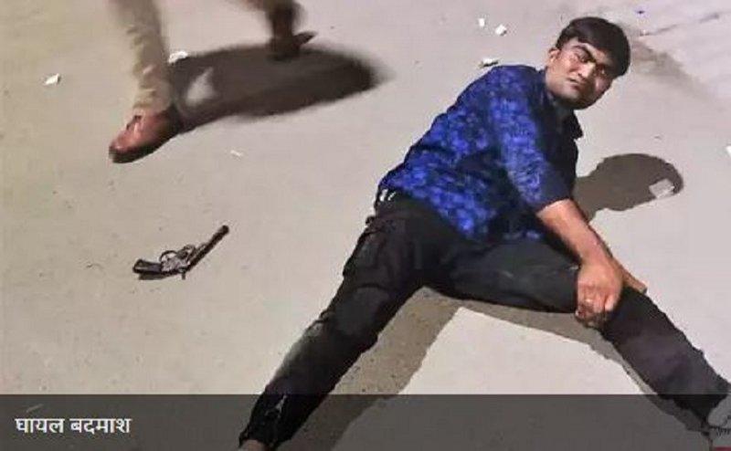 मेरठ पुलिस का 'ऑपरेशन लंगड़ा', गोली लगने से घायल हुआ 25 हजार का इनामी