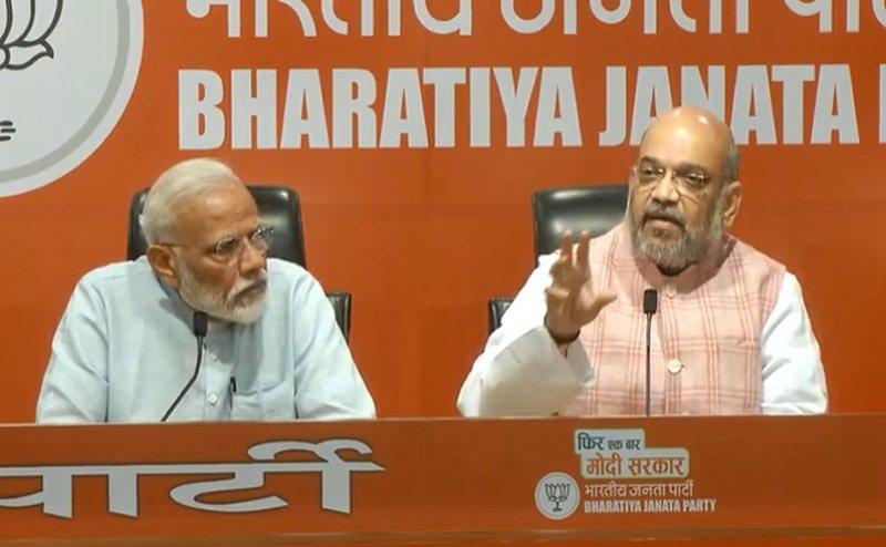 5 साल बाद PM मोदी आए पहले प्रेस कांफ्रेस में लेकिन नहीं दिए पत्रकारों के सवालों के जवाब