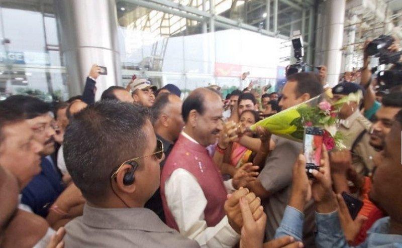 लोकसभा स्पीकर निर्वाचित होने के बाद पहली बार राजस्थान पहुंचे ओम बिरला, हुआ भव्य स्वागत