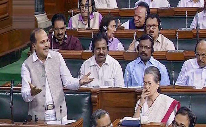 Article 370: जम्मू-कश्मीर पर सवाल पूछ चौतरफा घिरे अधीर रंजन, सोनिया भी नाराज