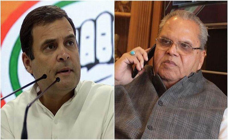 राहुल गांधी का J&K गर्वनर को जवाब- 'हमें एयरक्राफ्ट नहीं कश्मीर में घूमने की आजादी चाहिए'