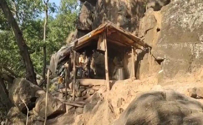 हाथियों के आतंक से पहाड़ पर रहने को हुआ मजबूर ये परिवार