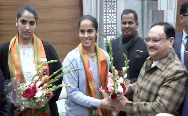 BJP में शामिल हुईं बैडमिंटन चैंपियन साइना नेहवाल, बोलीं- PM मोदी से मिलती है प्रेरणा