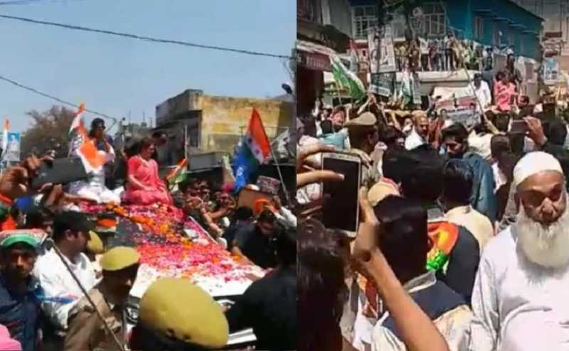 प्रियंका गांधी के रोड शो में हंगामा, एक शख्स ने लगाए कांग्रेस विरोधी नारा, नाराज कार्यकर्ताओं ने कर दी धुनाई