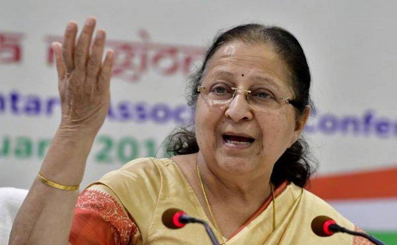 टिकट में देरी के बाद सुमित्रा महाजन ने चिठ्ठी जारी कर किया ऐलान, नहीं लड़ना है चुनाव