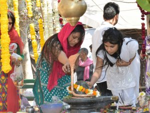 नोएडा: शिवरात्रि पर मंदिरों में उमड़ी श्रद्धालुओं की भीड़