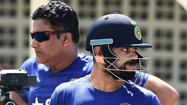 Indian captain Kohli has 'no problems' with Kumble