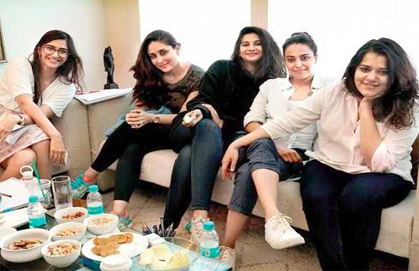 Kareena brings son Taimur for ad shoot with sister Karisma