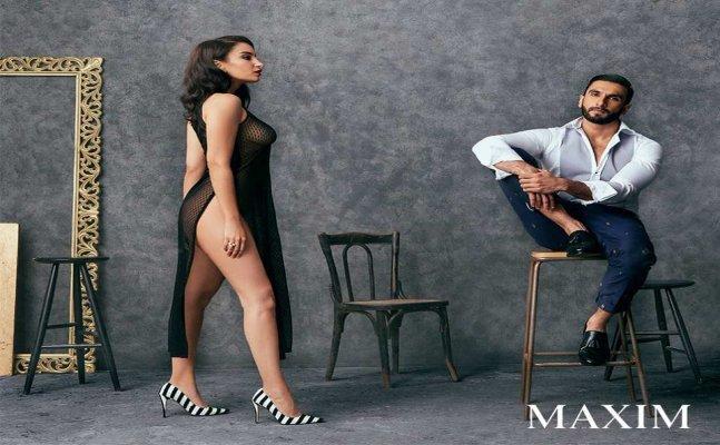 OMG! Ranveer posed beside an almost nude girl