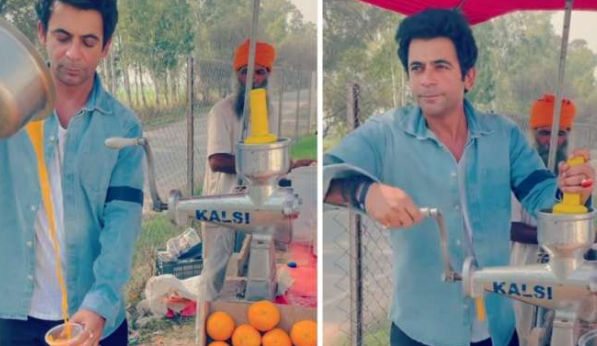 Watch, Sunil Grover flaunts his juice-making skills