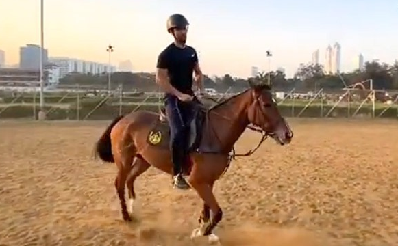 Vicky Kaushal shares glimpse from horse riding session, says 'Back to Basics'
