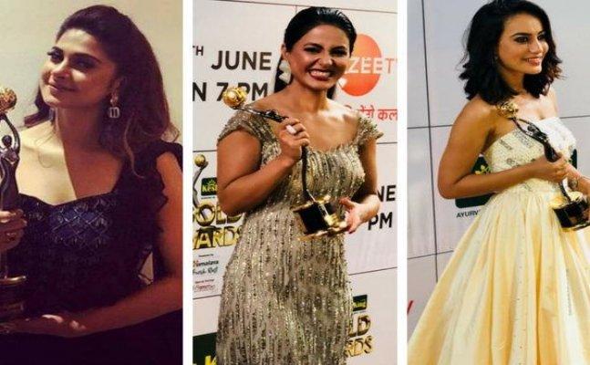 Gold Awards 2018: Divyanka Tripathi, Sriti Jha, Hina Khan grace the red carpet at the event