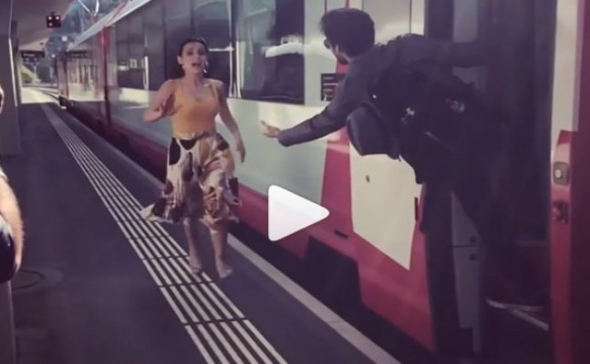 WATCH: Sania Irani and Mohit Sehgal's DDLJ moment goes horribly wrong