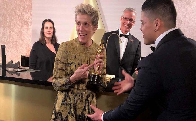 WAIT WHAT! Frances McDormand's Oscar gets stolen, suspect arrested