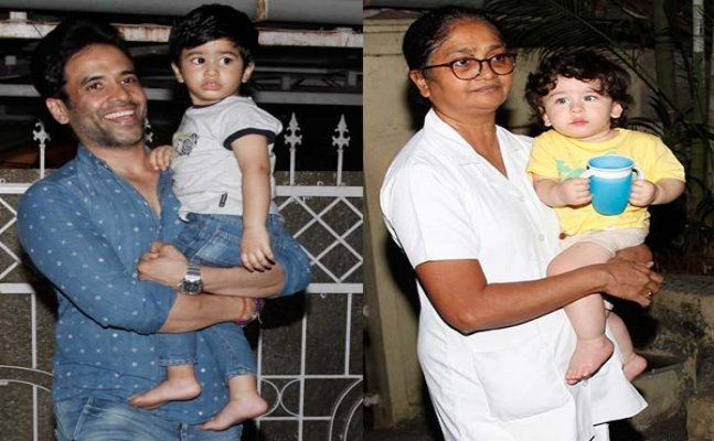 Taimur and Laksshya Kapoor enjoy a play date