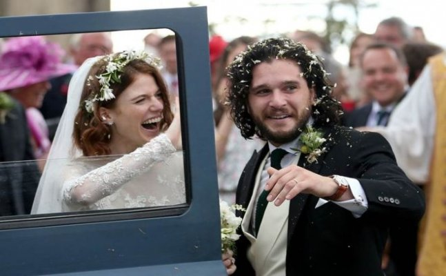 'Game of Thrones' stars Kit Harrington and Rose Leslie get married