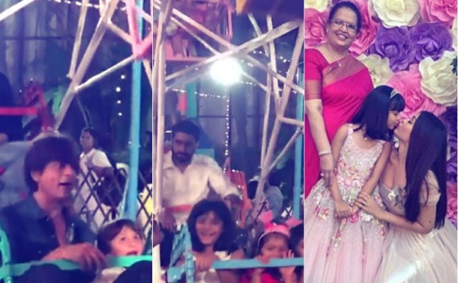 Aaradhya's Bday Bash: SRK-AbRam, Abhishek ENJOY Giant Wheel Ride