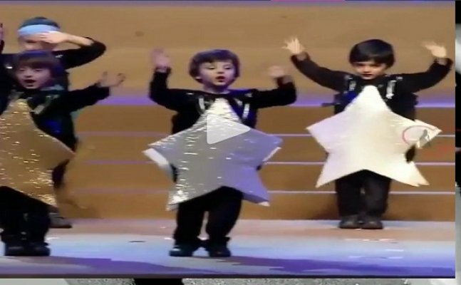 AbRam dances on dad SRK's song