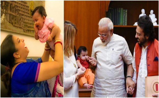 After PM Modi Smriti Irani showers love on singer Adnan Sami's daughter
