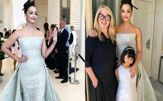 Cannes 2018: Aishwarya Rai Bachchan looked like a vision in white strapless shimmery outfit