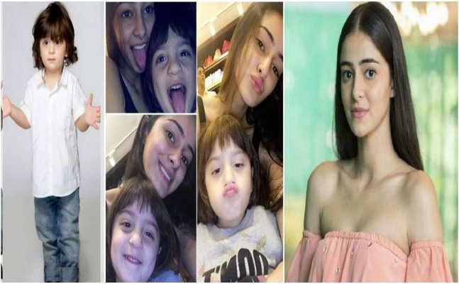 SRK's son AbRam strikes CUTE poses with Ananya Panday