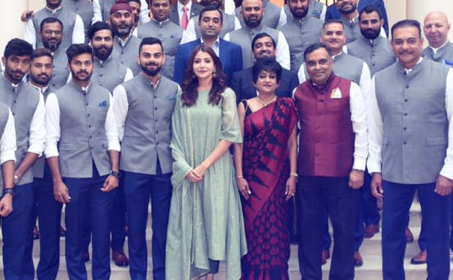 Anushka trolled for joining team India's picture at High Commission Of India