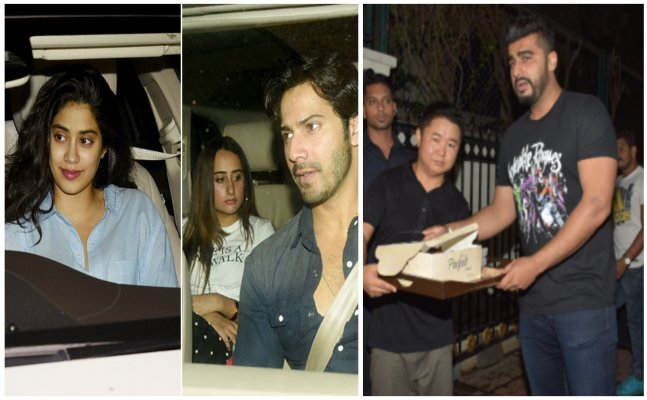 Janhvi Kapoor to Varun Dhawan; Celebs attend Arjun Kapoor's bday bash