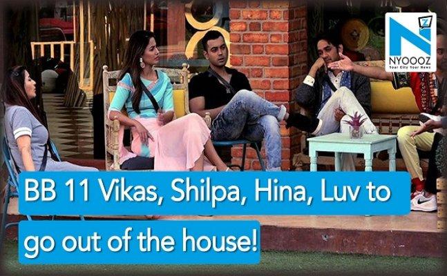 Bigg Boss 11: Vikas Gupta, Shilpa Shinde, Hina Khan & Luv Tyagi to go out of the house