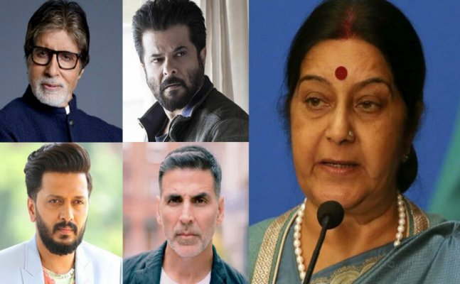 Bollywood mourns the demise of BJP stalwart Sushma Swaraj