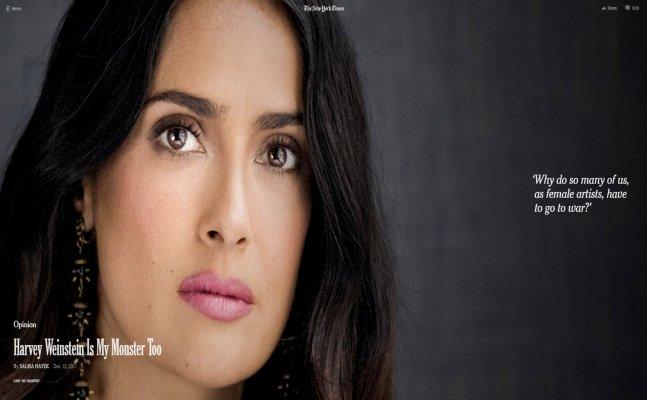 Salma Hayek: Harvey Weinstein was my monster for years